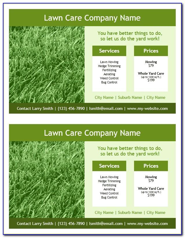 Lawn Service Flyers Templates
