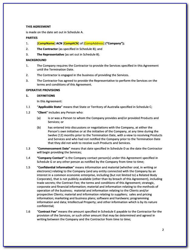 Letter Of Engagement Template Building Contractor