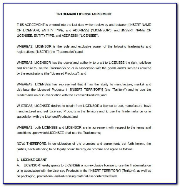 Licensing Agreement Template Canada