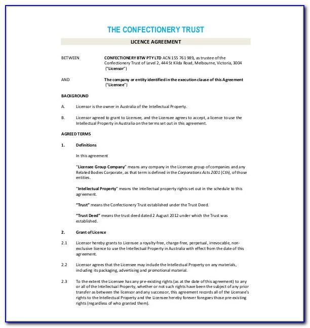 Licensing Agreement Template Uk