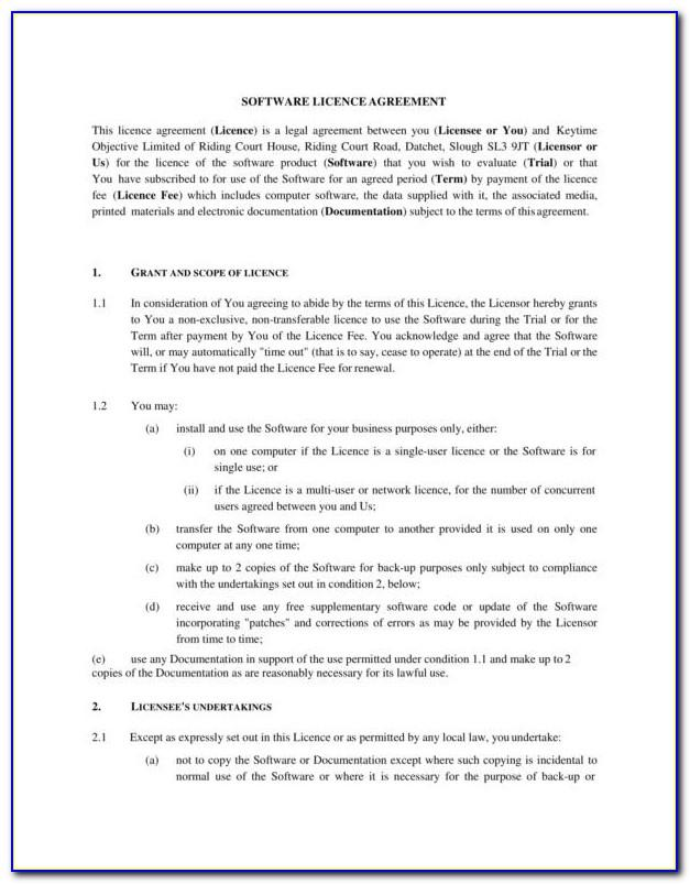 Licensing Agreement Templates
