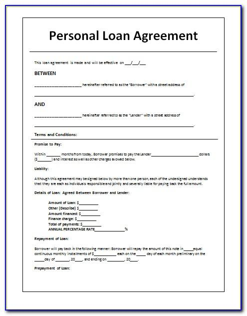 Loan Repayment Agreement Letter Template