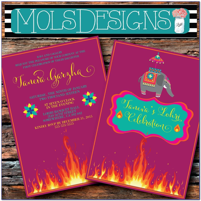Lohri Invitation Cards Templates Free
