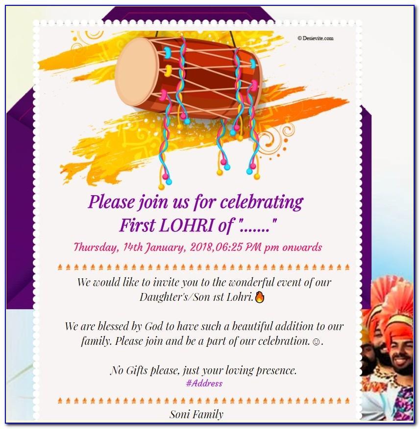 Lohri Invitation Templates