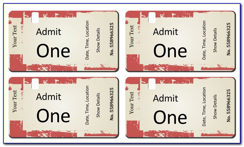 Make Your Own Movie Ticket Template
