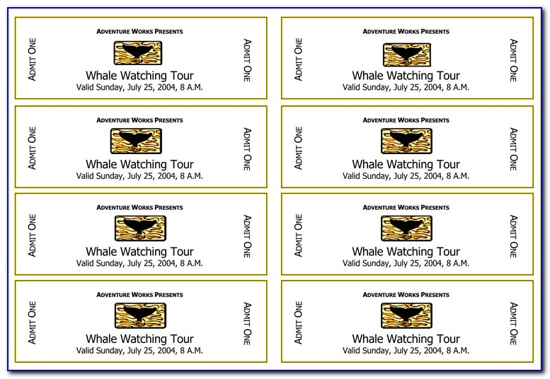 Make Your Own Ticket Printable