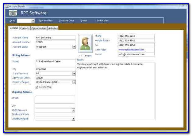 Microsoft Access Database Template Download