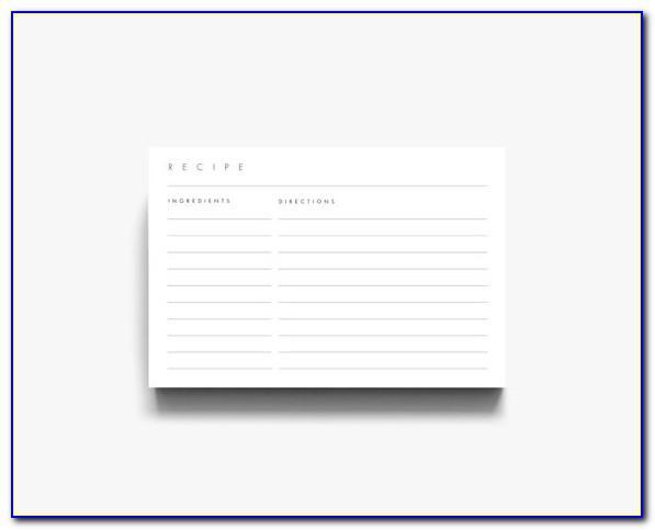 Microsoft Word 3x5 Recipe Card Template