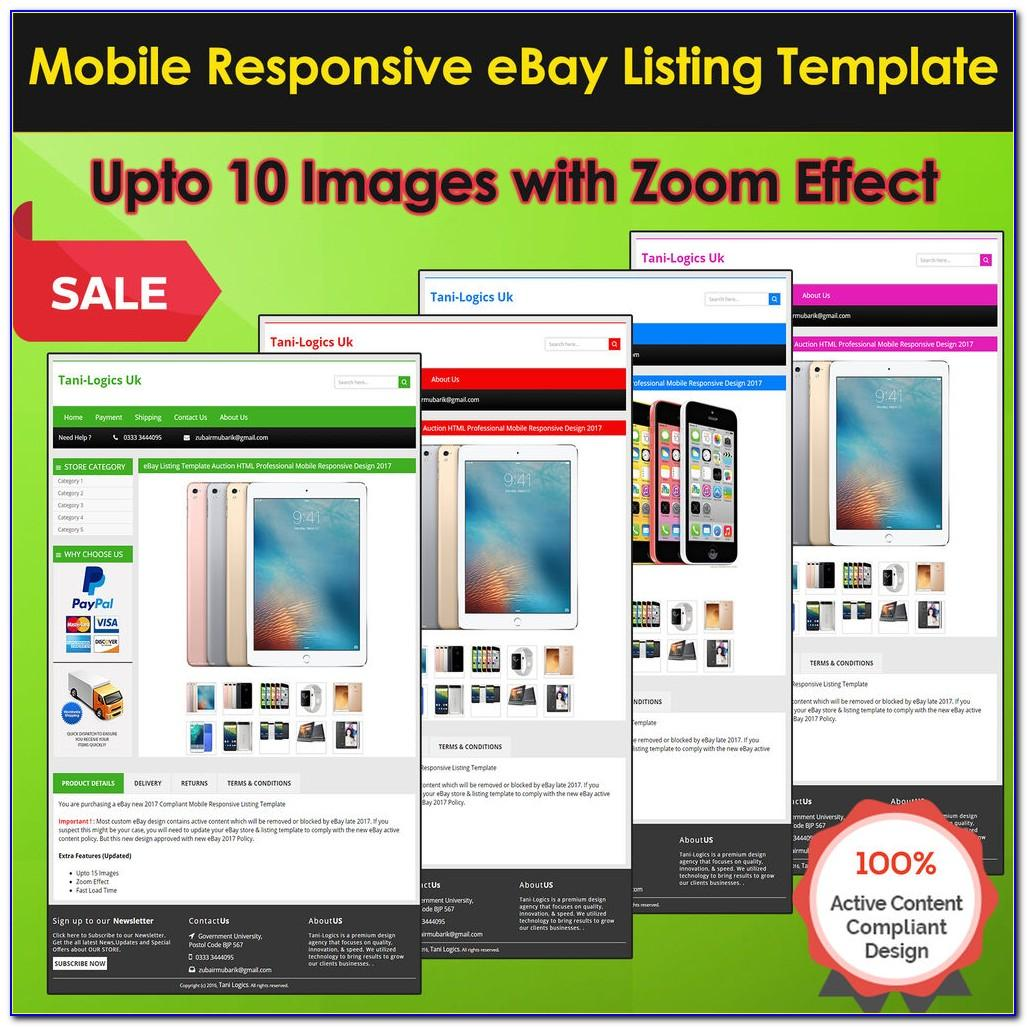 Mobile Friendly Ebay Listing Template