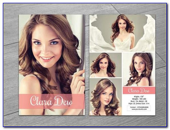 Modeling Comp Card Template Free