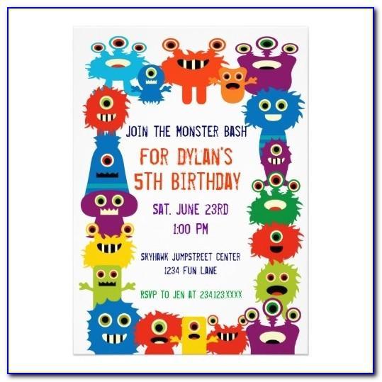 Monster Jam Birthday Invitation Template Free