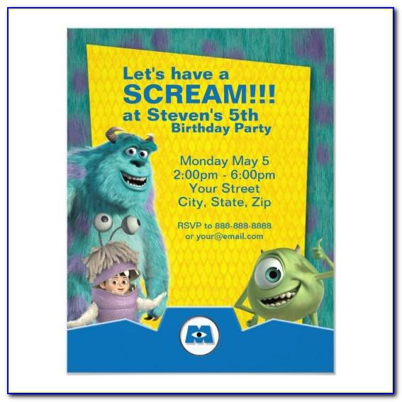 Monsters Inc Birthday Invitations Template