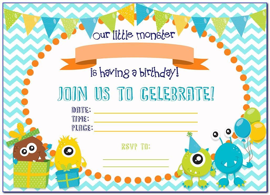 Monsters Inc Invitation Template Free