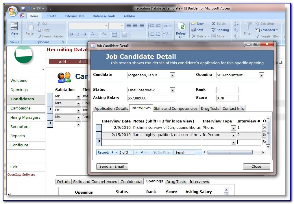 Ms Access Crm Template 5.0