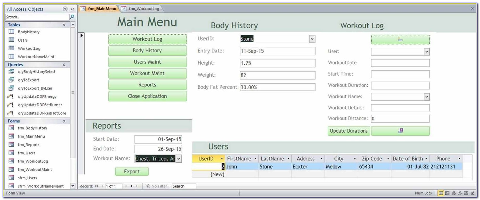 Ms Access Database Templates Download