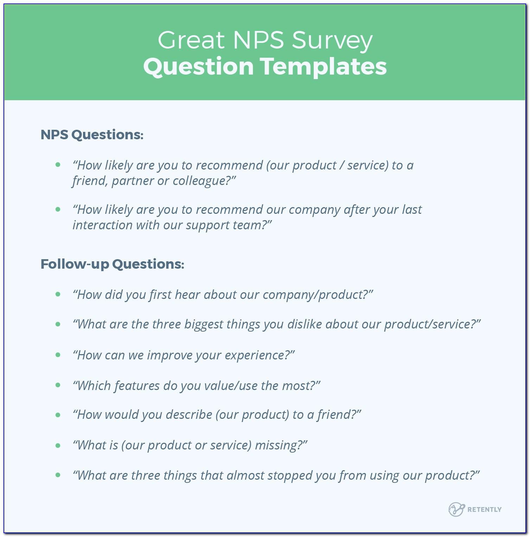 Net Promoter Score Nps Survey Template