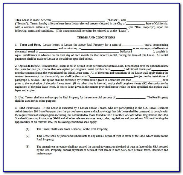 Office Lease Agreement Template Free