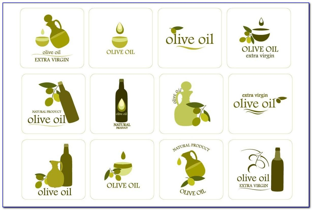 Olive Oil Bottle Label Template