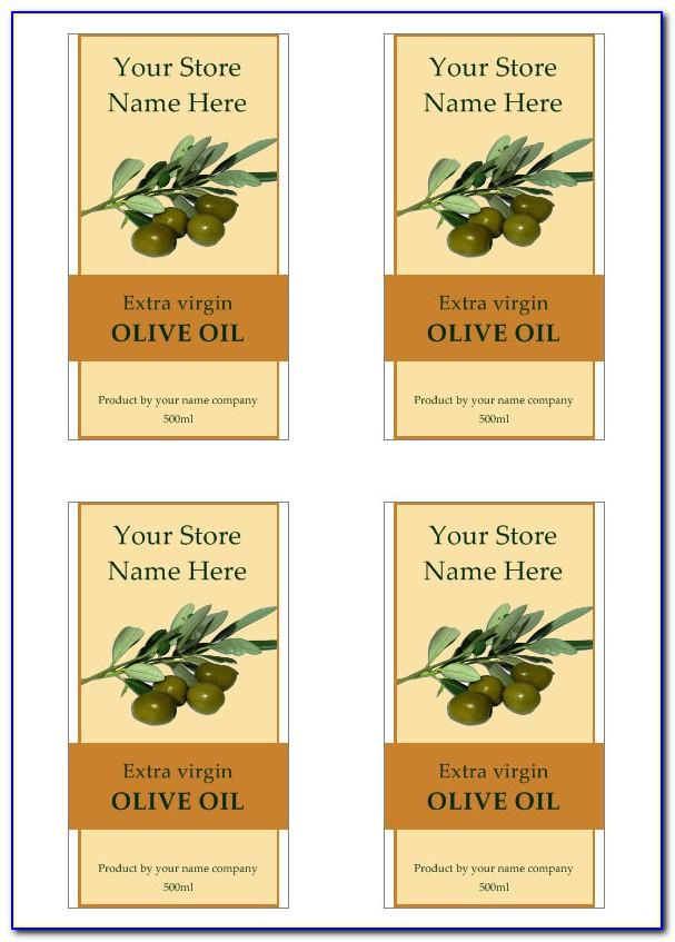 Olive Oil Label Design Template