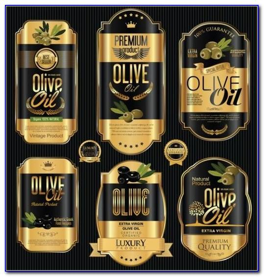 Olive Oil Label Vector Template