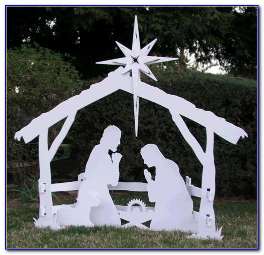 Outdoor Nativity Silhouette Patterns