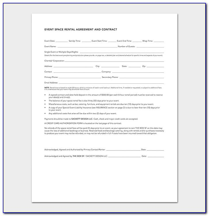 Party Planner Contract Example