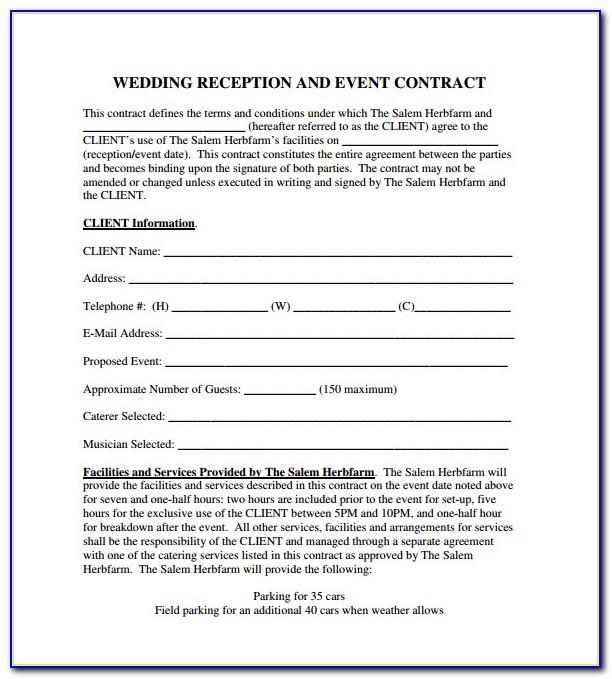 Party Planning Contract Template