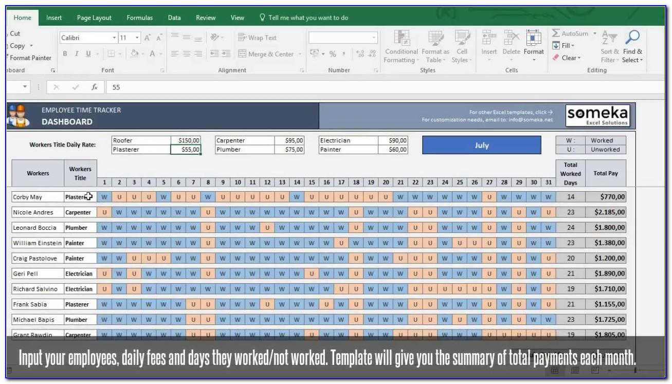 Payroll Templates Excel Spreadsheet