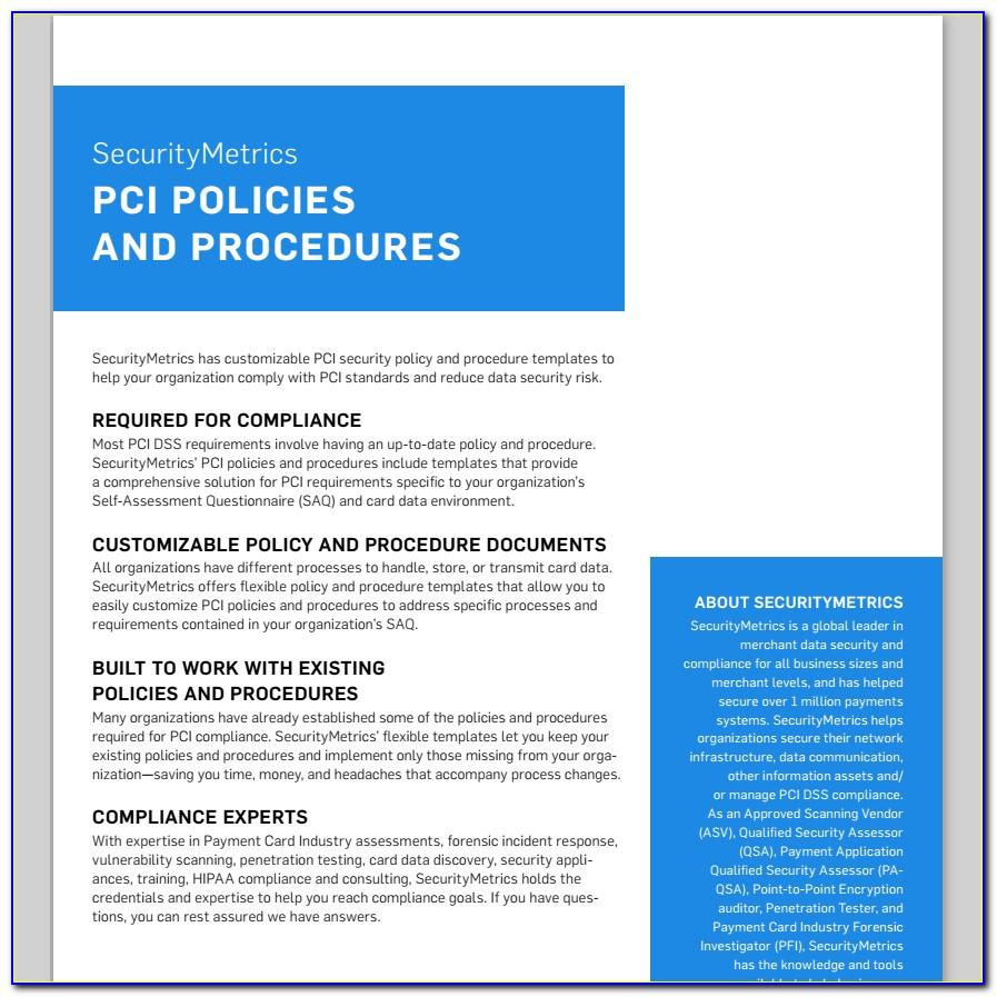 Pci Compliance Security Policy Template