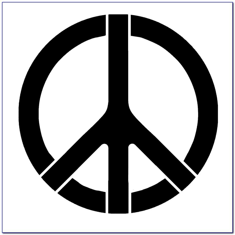Peace Sign Stencil Template