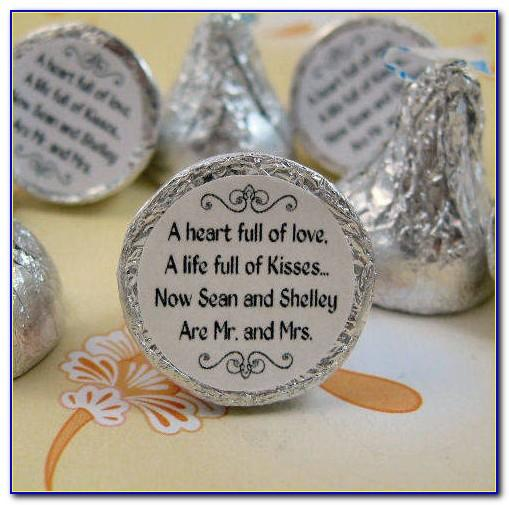 Personalized Hershey Kisses Stickers Template