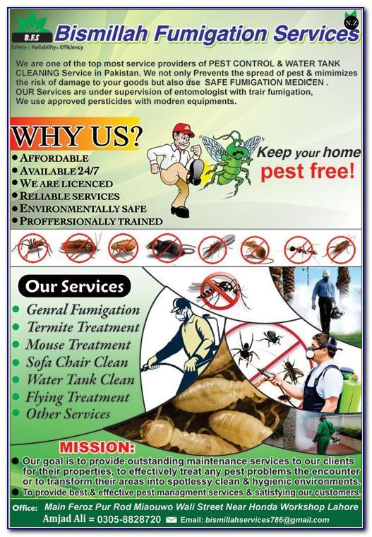 Pest Control Form Template