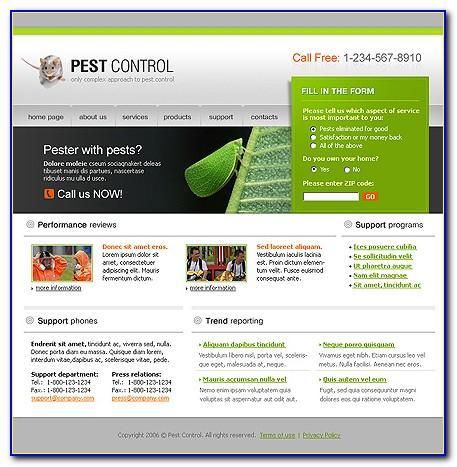 Pest Control Plan Template
