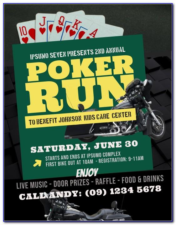Poker Run Flyer Template Free