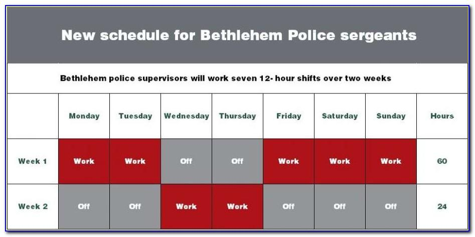 Police 12 Hour Shift Schedule Template