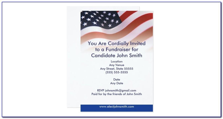 Political Event Invitation Template
