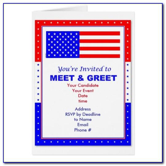 Political Meet And Greet Invitation Template