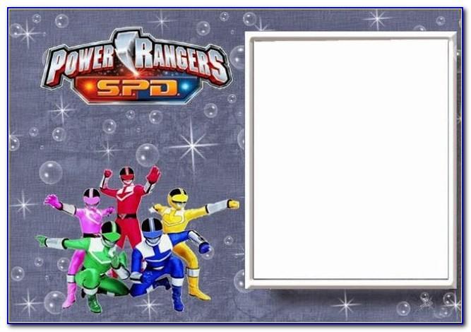 Power Rangers Birthday Invitation Template Free