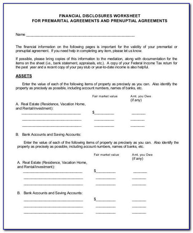 Prenuptial Agreement Ny Sample
