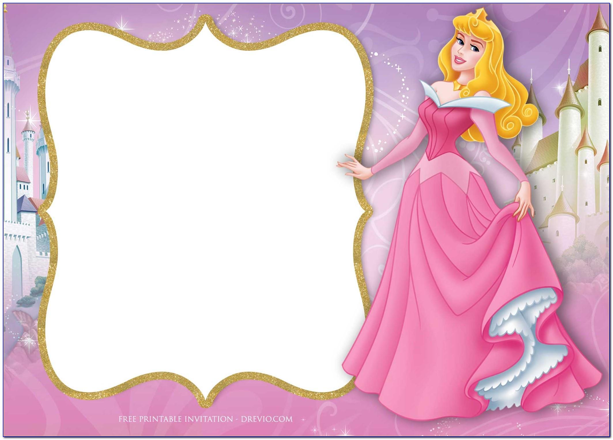Princess Dress Invitation Templates Free