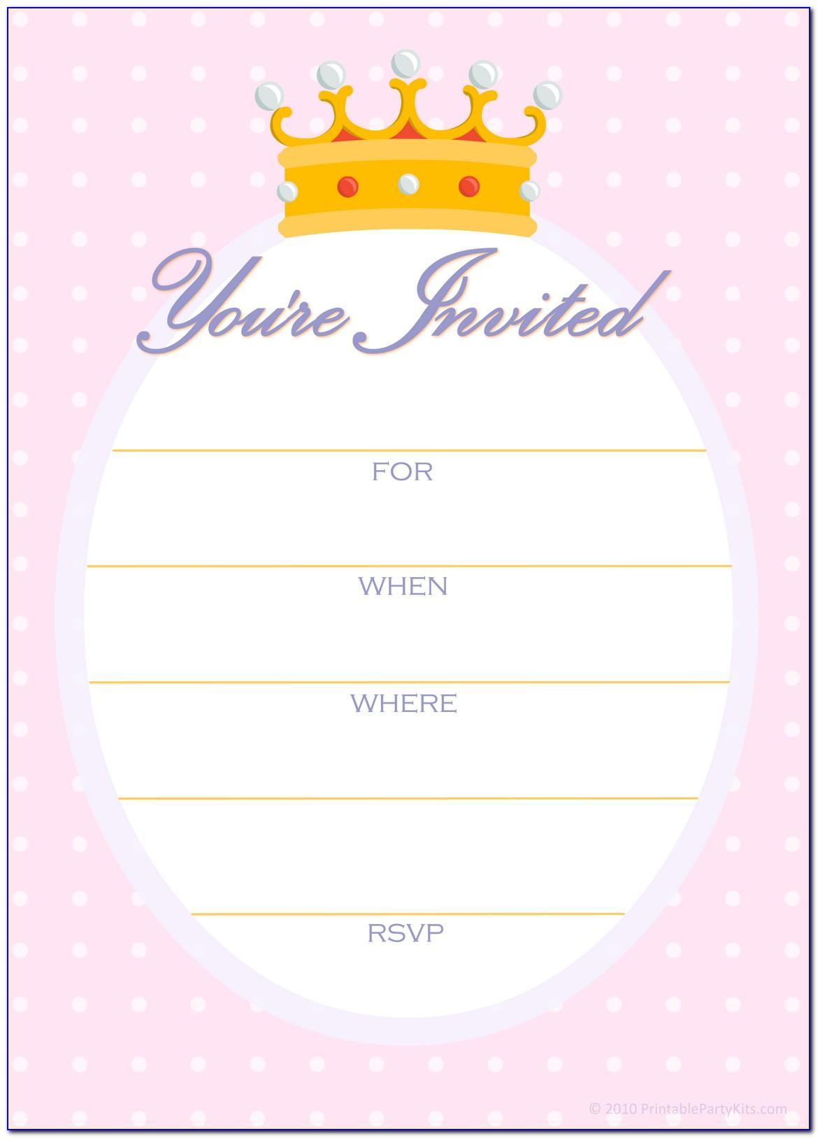 Princess Scroll Invitation Templates