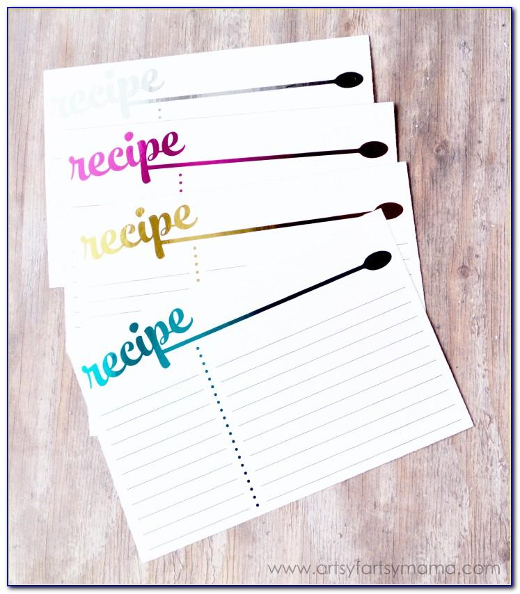 Printable 3x5 Recipe Cards Template
