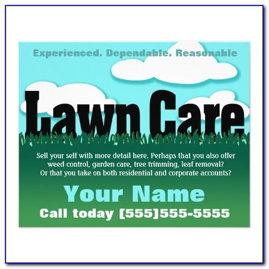 Printable Free Lawn Care Flyer Templates Word