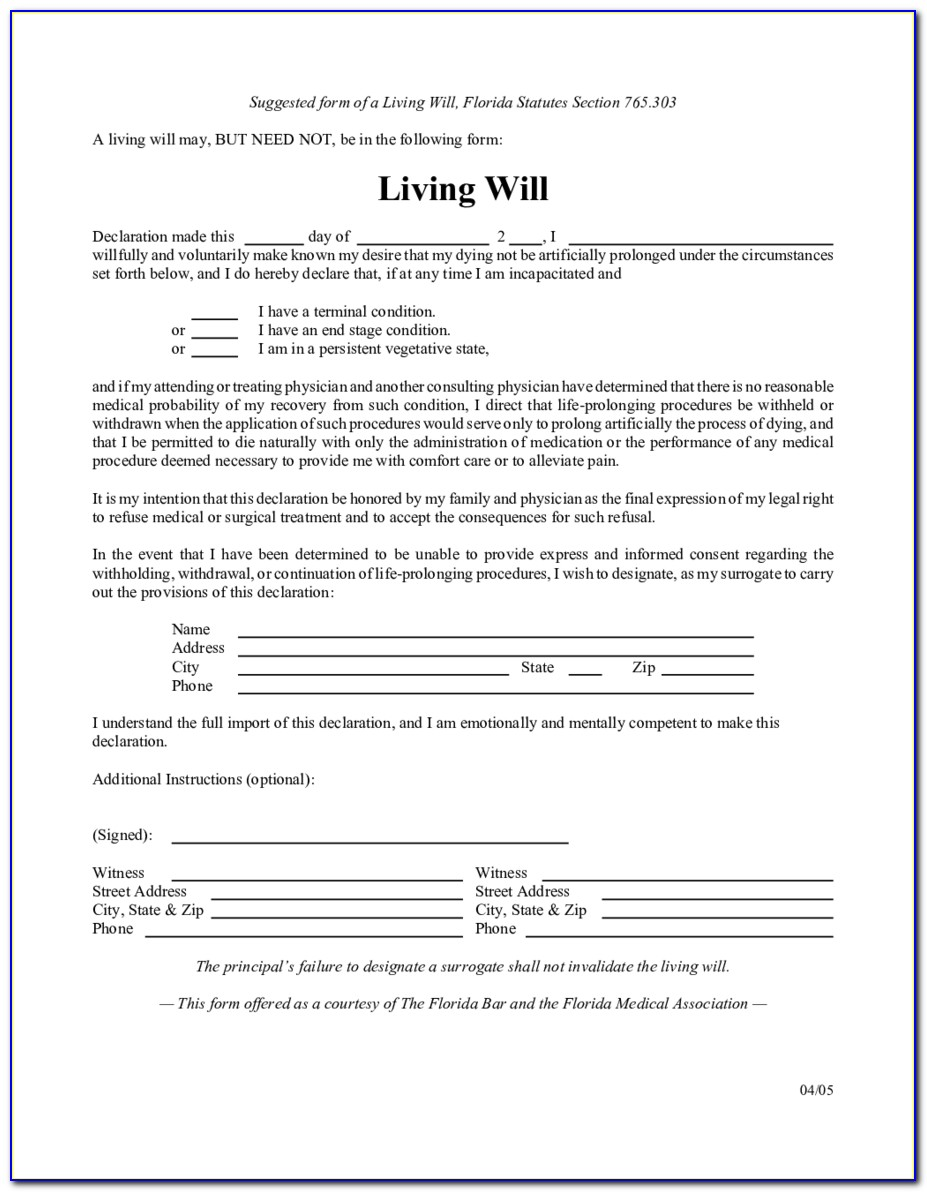 Printable Templates For Wills