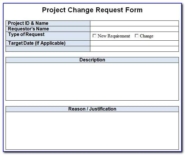 Project Change Request Template Excel