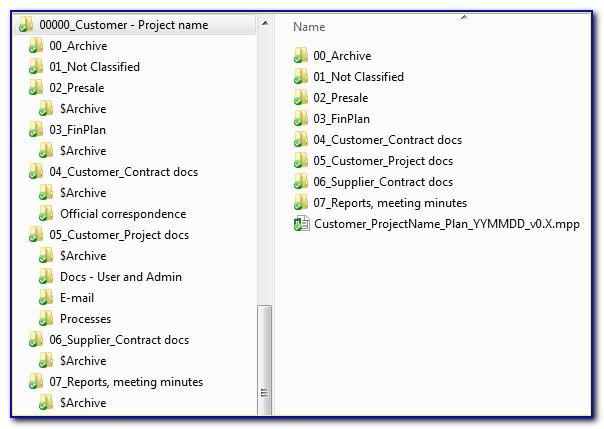 Project Management Folder Structure Template