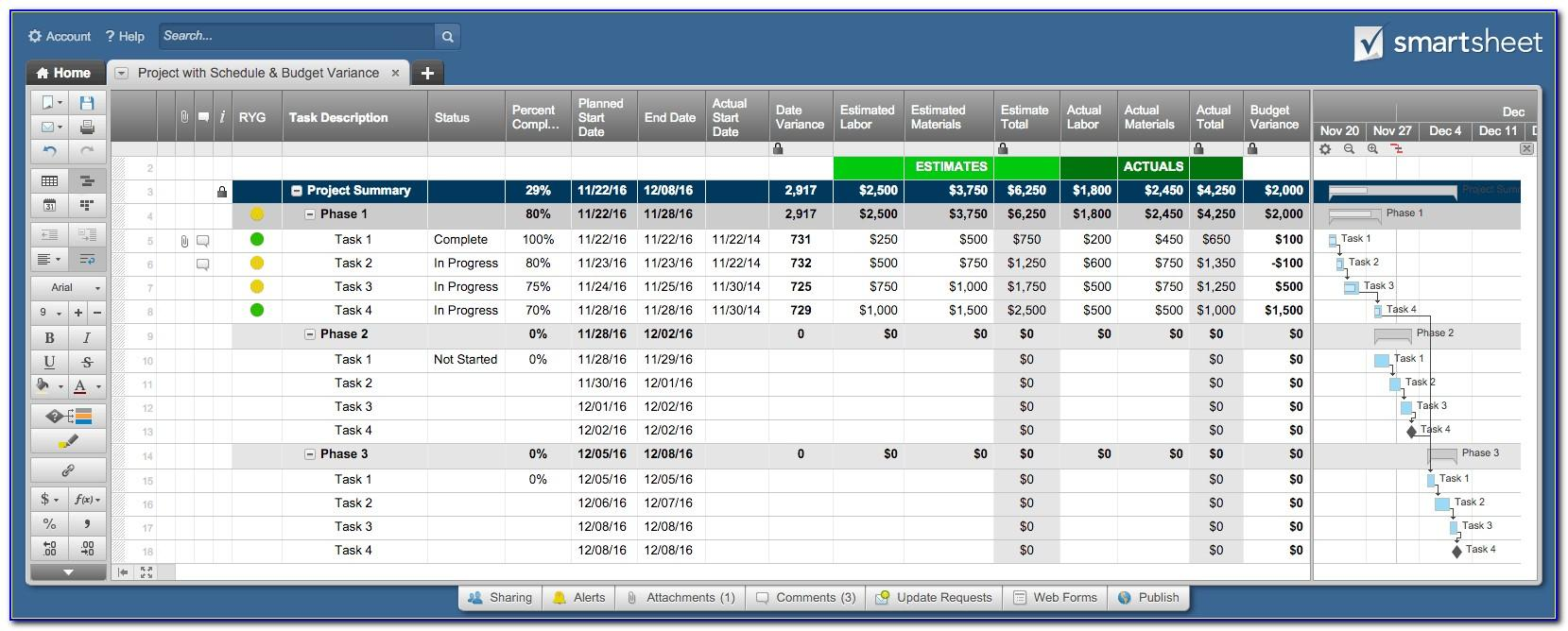 Project Management Plan Template Smartsheet