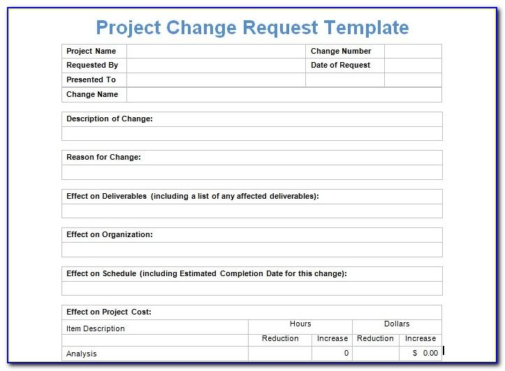 Project Request Form Excel