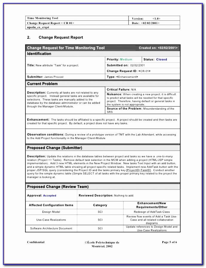 Project Request Form Template Excel