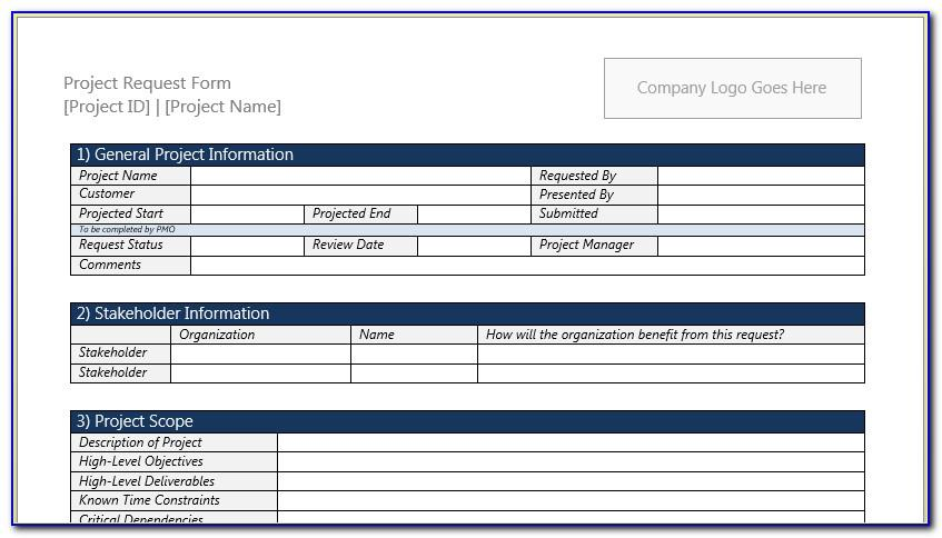 Project Request Template Excel